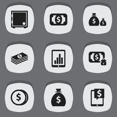 Set Of 9 Editable Investment Icons. Includes Symbols Such As Crate, Salary, Specie And More. Can Be Used For Web, Mobile, UI And Infographic Design.