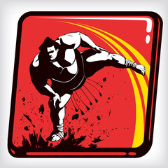 Dynamic icon of martial art sumo