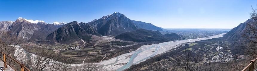 Panorama Monte Chiampon and Friuli-Venezia