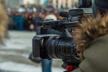 Cameraman shooting