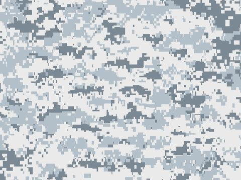 Camouflage pixels pour la neige