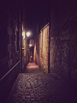 Street view of Edinburgh night