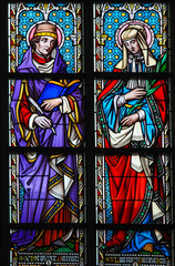 Stained Glass - Saint Prosper and Ludmilla