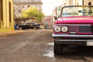 Poster Havana Old car on street of Havana, Cuba