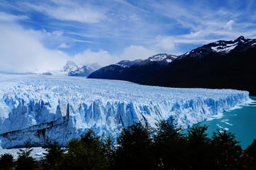 Perito Moreno Glacier, the most beautiful glaciers in the world. Located in Patagonia, Argentina. Travel Destination. Global Warming.