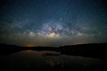 Milky way at the lake