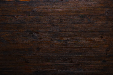 Dark wood table texture background top view Wall mural