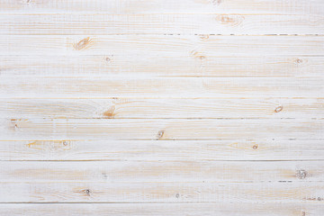 White texture of vintage wooden table background top view