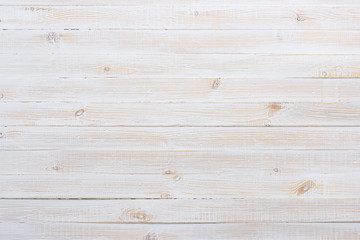 White texture of vintage wooden table background top view Wall mural