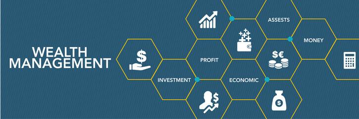 Wealth Management Icon Concept Fototapete