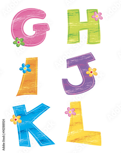 Lettere Dellalfabeto 4 Fiore Stock Photo And Royalty Free Images