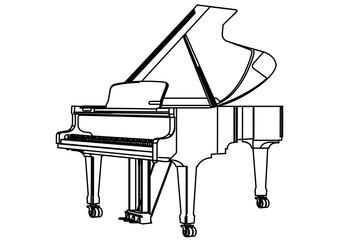 Grand Piano Stroke Picture Graphic Design