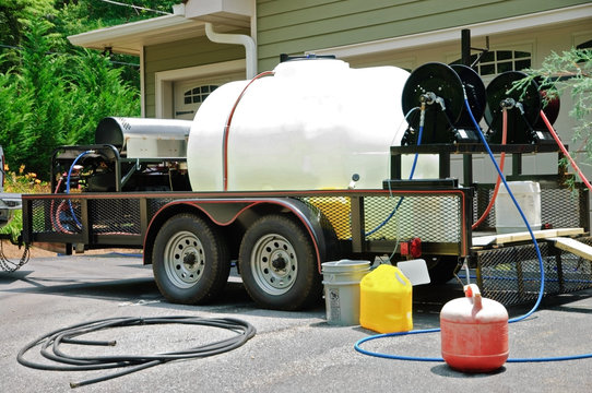 Pressure Wash Equipment at a Home