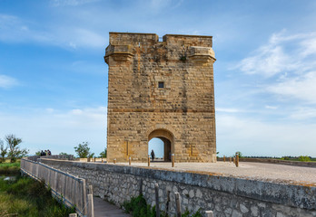 Ancient medieval town near f Aigues-Mortes - Provence, France
