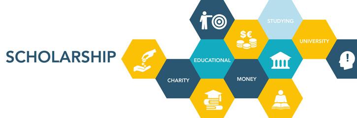 Scholarshıp Icon Concept