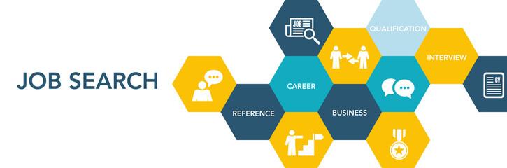 Job Search Icon Concept