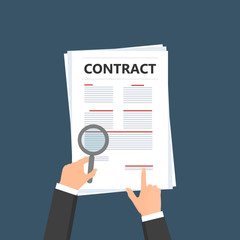 Contract ,Business Cooperation Agreement Flat design Vector illustration