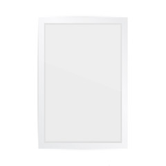 Realistic square white frame isolated on white. It can be used for presentations. Vector EPS10 illustration.