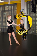 Little dancer in an acrobatic ring