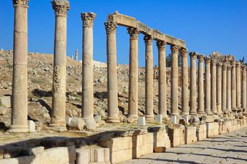 Jerash - ruins of the Roman city in Jordan