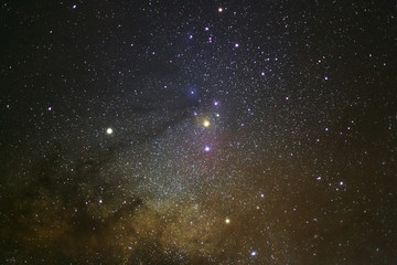 Close up - A wide angle view of the Antares Region of the Milky Way