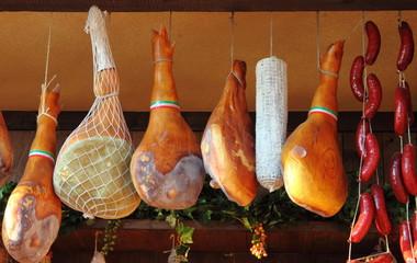 Parma Ham hanging