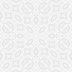 Damask vector classic light silver pattern. Seamless abstract background with repeating elements. Orient background