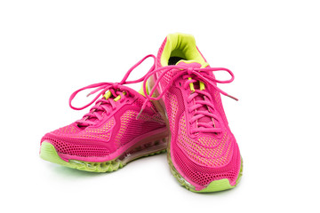 Female jogging shoes isolated