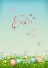Vector Easter Landscape