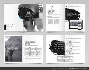 Design annual report,vector template brochures
