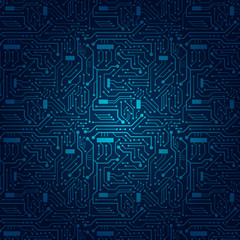 Circuit Board Background (blue)