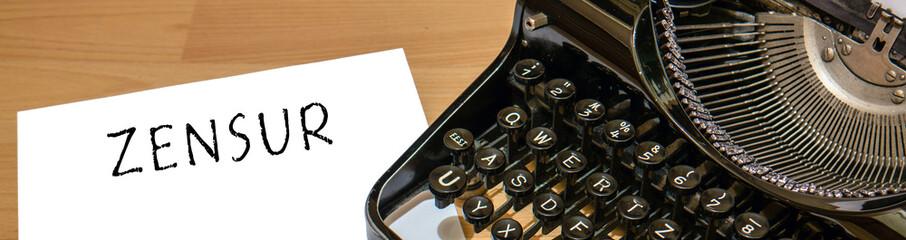 Zensur Alte Schreibmaschine