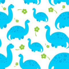 blue cartoon dinosaur pattern
