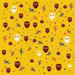 Funny owl pattern