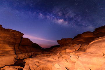 milky way at stone mountain / Milky way on the sky / Sam Phan Bok