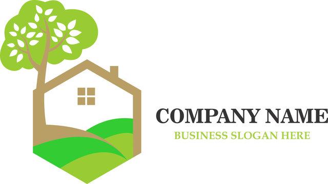logo green home yard natural