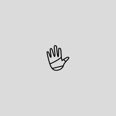 bandage icon flat design