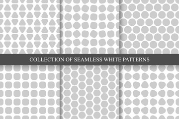 Collection of seamless simple geometric patterns.