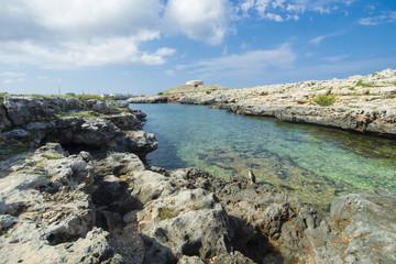 Menorca coast, light, blue sea