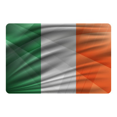 National flag of Ireland in modern design style.
