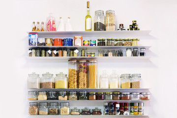 Spices on the shelf