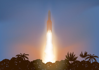 Fusée - Décollage - espace - lancement - satellite