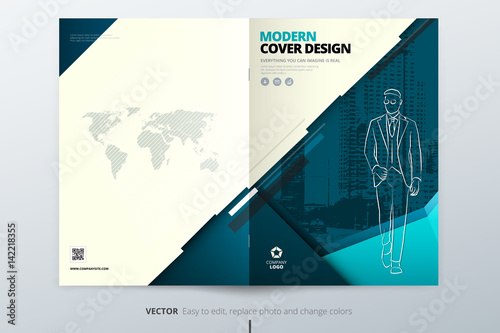 Brochure Cover Design Corporate Business Template For Brochure