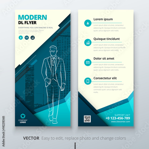 Dl Flyer Design Layout Teal Dl Corporate Business Template For