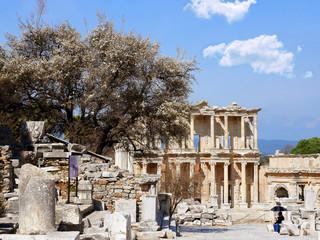 Library of Celsus in spring, Ephesus, Turkey
