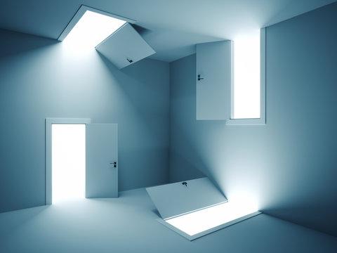 Surreal doors
