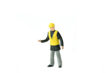 Miniature people engineer worker construction concept