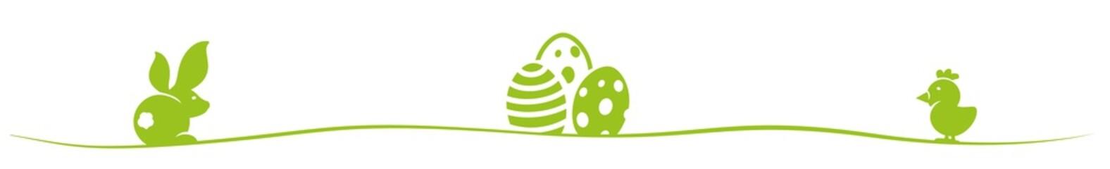 Osterhase Ostereier Osterkücken grün