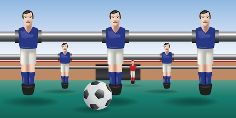 Baby foot - football - joueur - ballon - match - équipe