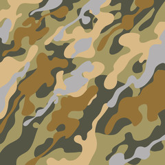 Military camouflage background vector illustration graphic design